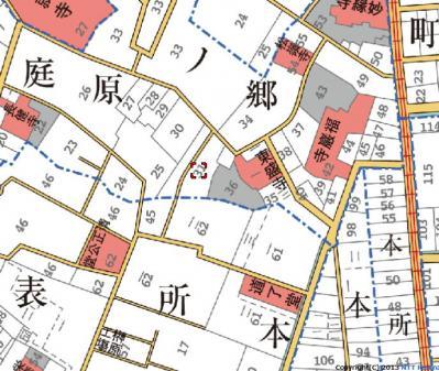 明治初期地図稲葉下屋敷