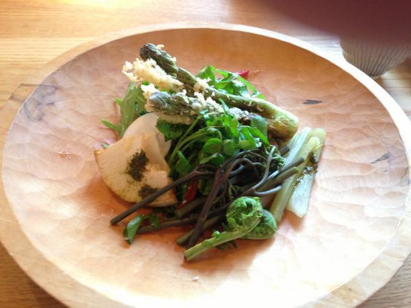 直瀬の山菜サラダ6