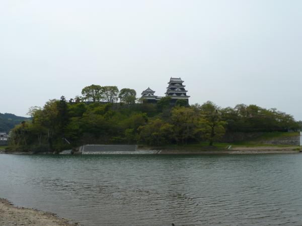 肱川から大洲城2
