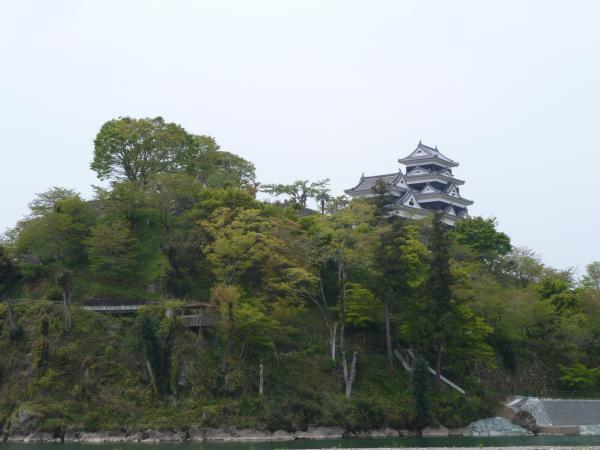 肱川から大洲城3