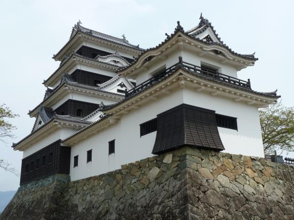 石垣と大洲城10