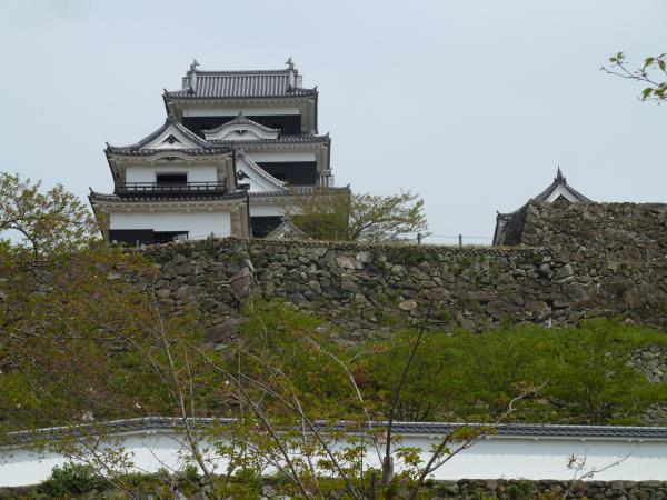 石垣と大洲城8