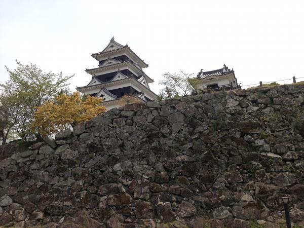 石垣と大洲城7