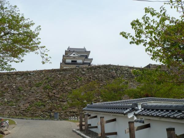 石垣と大洲城6