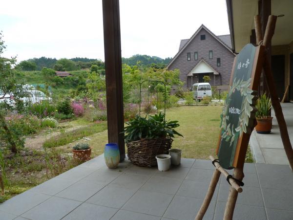 玄関と庭2
