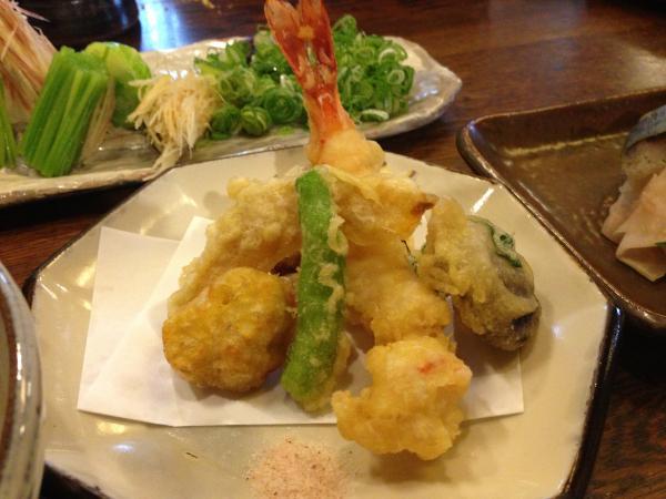 天ぷら盛合せ6