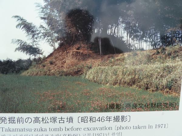 発掘前の高松塚古墳10