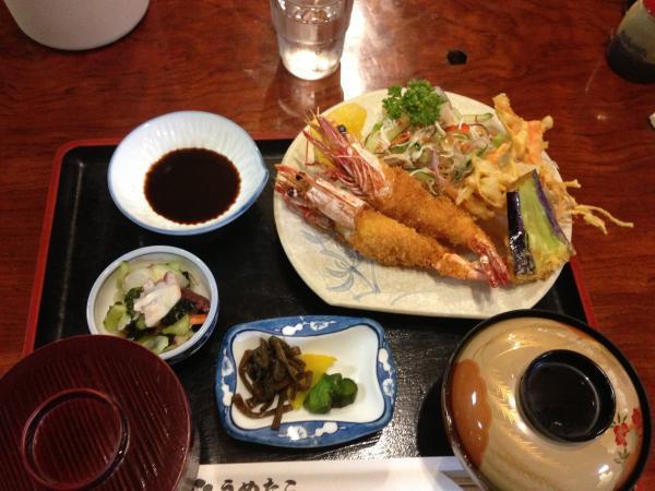 海老フライ定食並4
