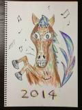 2014 馬の絵