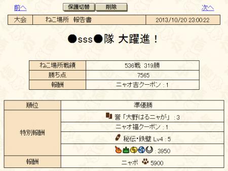 10月猫場所2日目結果_convert_20131021025132