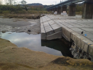 本日の橋梁下