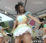SKE48 高柳明音ちゅり セクシー ミニスカート衣装 パンチラ 太もも 口開け 舌 地上波キャプチャー エロかわいい画像62