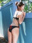 安田美沙子 セクシー 水着 お尻食い込み 太もも 笑顔 高画質エロかわいい画像32