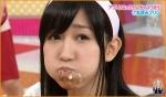 AKB48 片山陽加 セクシー 丸飲みプリン ほっぺた 顔アップ カメラ目線 食事顔 高画質エロかわいい画像16 擬似ザーメン精飲アイドル