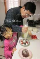 2013クリスマス ケーキ作り