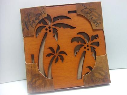 ハワイ おみやげ 『キュートなヤシの木鍋しき』