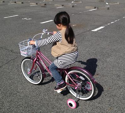 自転車練習風景