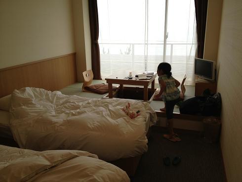 皆生のホテル部屋