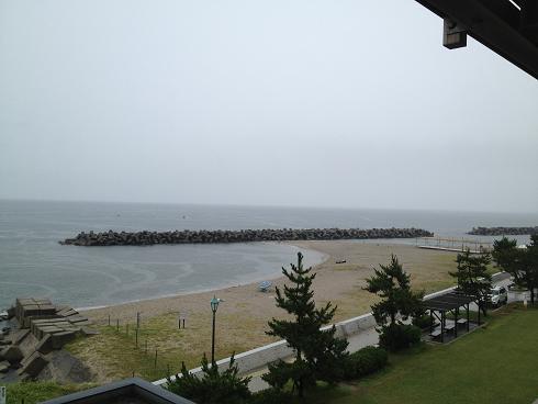皆生海水浴場曇り