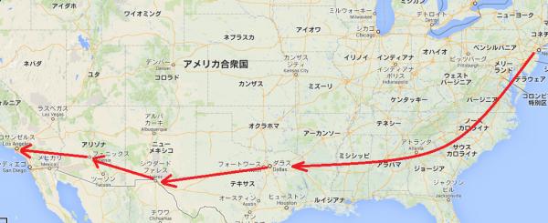 アメリカ ツーリング バイク マップ ニューヨーク エルパソ マップ