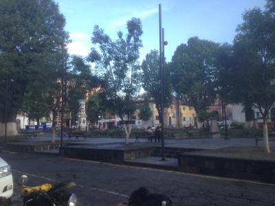 メキシコ ウルアパン 広場