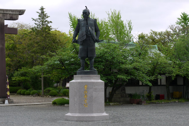 大阪城 豊国神社 秀吉の銅像
