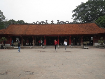 3-22 拝殿。この奥に孔子を祀る大聖殿があります。