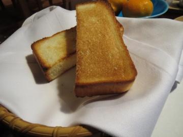 焼き加減を聞かれたトースト