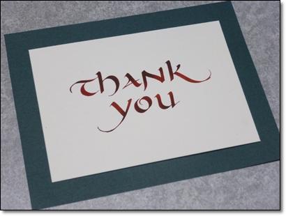 Thank youカード 2014年文化祭