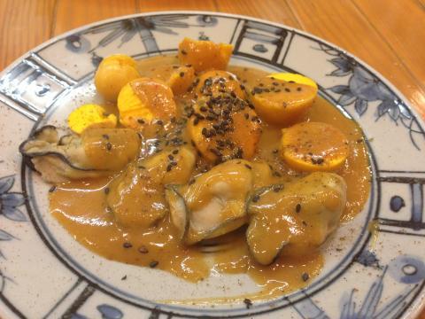 牡蠣と玉ひも
