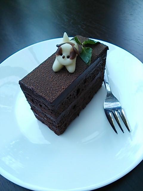 2013 9月18日 ヨーゼフ モモ チョコレートケーキ
