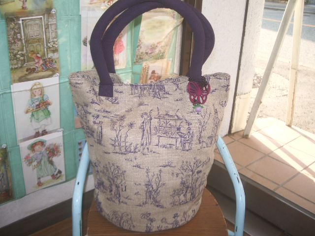 french fabric bag 005