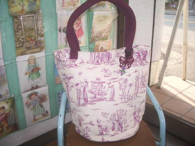 french fabric bag 001