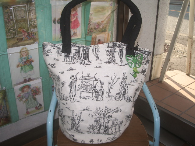 french fabric bag 003