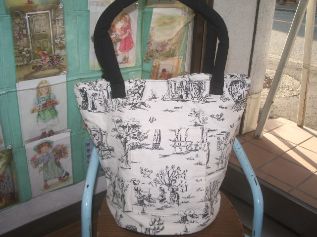 french fabric bag 004