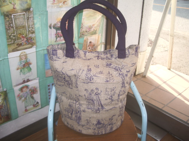 french fabric bag 006