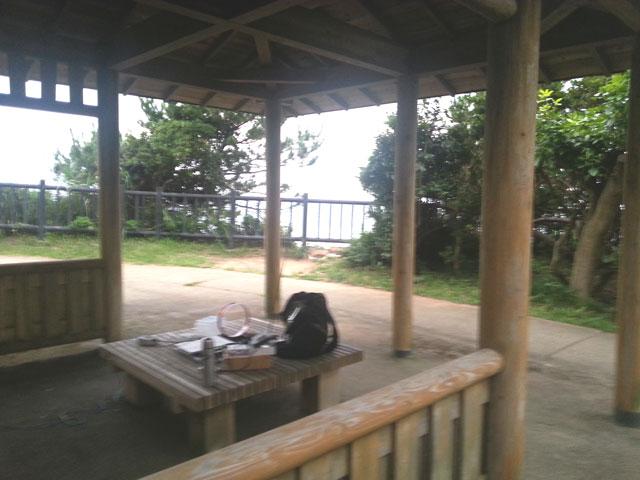 鵜の岬の東屋