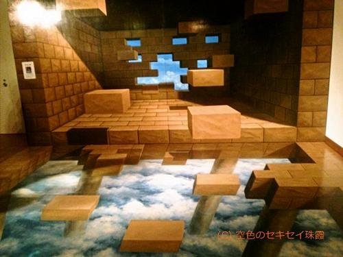 札幌ファクトリーでの「トリックアート展」
