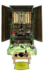 34 お盆の仏壇