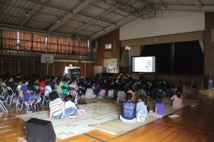 増田西小学校 にじいろシネマ 映画 移動映画館 シネマ 10