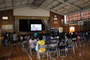 増田西小学校 にじいろシネマ 映画 移動映画館 シネマ 11