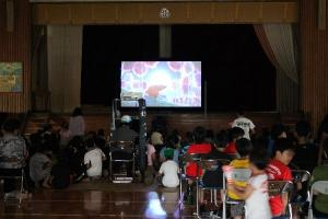 増田西小学校 にじいろシネマ 映画 移動映画館 シネマ 12