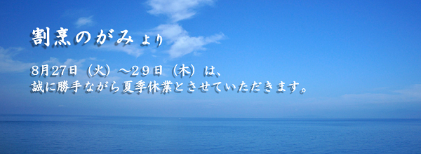 夏季休業2013