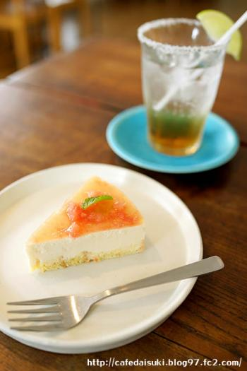 kousha◇グレープフルーツのレアチーズ&塩ライムソーダ