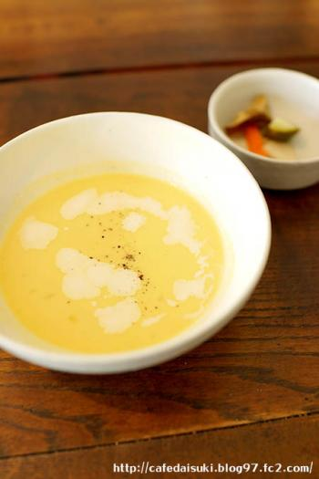 kousha◇カボチャの冷たいスープ&ピクルス