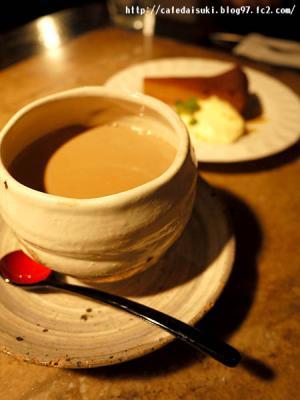 森のギャラリーカフェ◇チャイ&キャラメルチーズケーキ