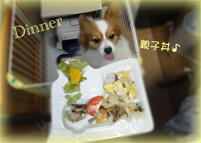 雑穀飯の親子丼(ささ身のピカタ)