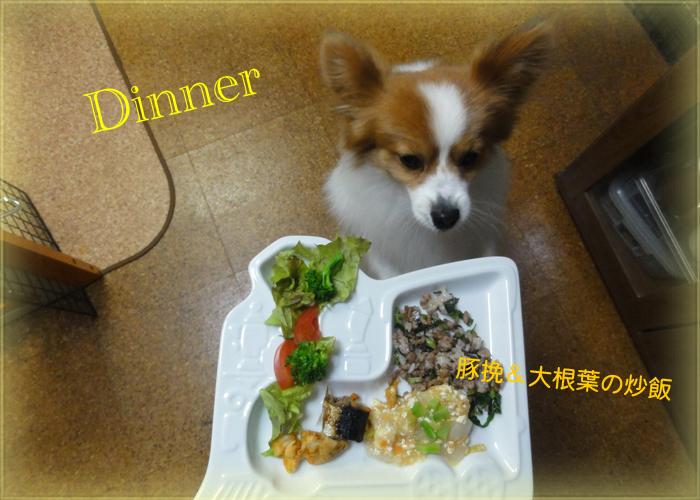 豚挽&大根葉の炒飯