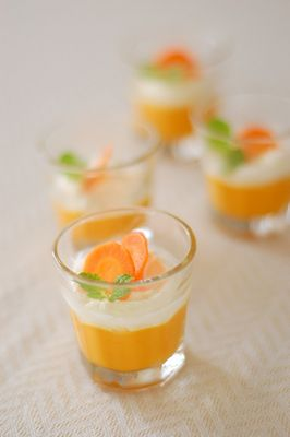 オレンジとにんじんのムース