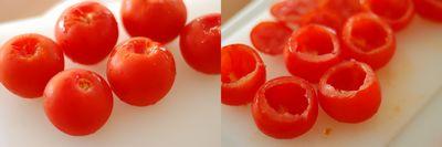トマトの肉詰め2